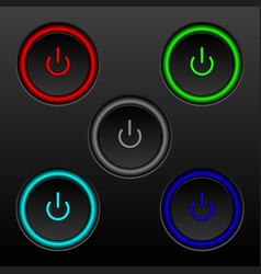 set of buttons on-offeps 10 vector image