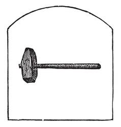 Sledge vintage vector