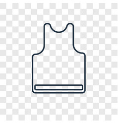 sleeveless concept linear icon isolated on vector image