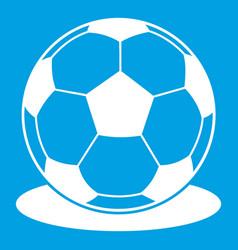 Soccer ball icon white vector