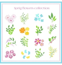Spring Flowers Set vector