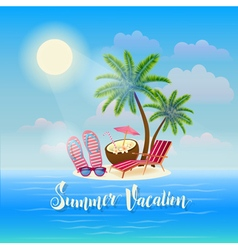 Summer Beach Vacation Exotic Tropical Island vector image