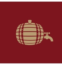 The Barrel icon Cask and keg beer Barrel symbol vector image