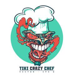 tiki crazy chef vector image