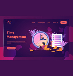 time management planning organization working vector image