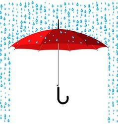 umbrella under rain vector image