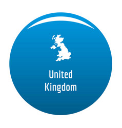 United kingdom map in black simple vector