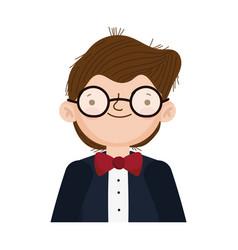 wedding groom man cartoon character in suit vector image