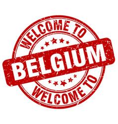 Welcome to belgium vector