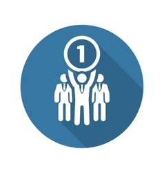 Winner Icon Business Concept Flat Design vector image