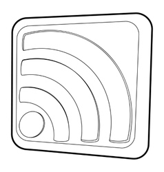 Wireless network sign icon isometric 3d style vector image