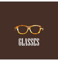 With eyeglasses vector