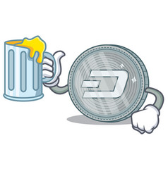 With juice dash coin character cartoon vector