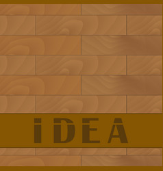 wooden table banner idea vector image
