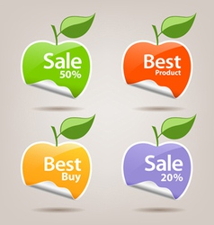 Collections colorful sticker apple vector image