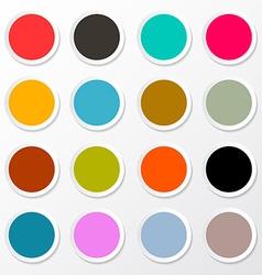 Colorful Circle Paper Empty Labels Set vector image