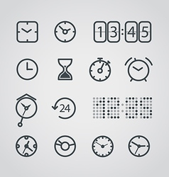 Different slyle of clock collection vector image vector image