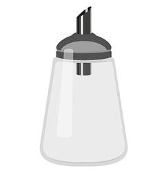 Empty sugar dispenser vector image vector image