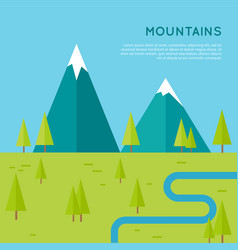 mountains concept in flat style design vector image