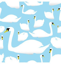swan on the watter pattern eps10 vector image