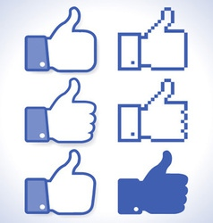 Thumb Up icons vector image vector image