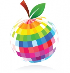 abstract apple design vector image
