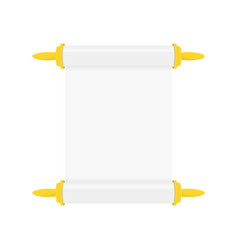 blank white paper scroll vector image