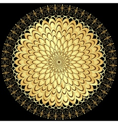 gold flower vector image vector image