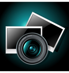 lens with photo frames vector image
