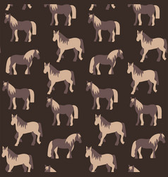 seamless pattern of beautiful prancing horses in vector image vector image