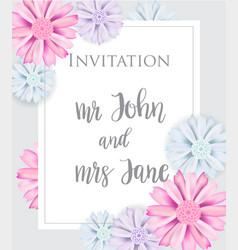 stylish elegant wedding invitation card vector image vector image