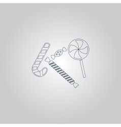 Sweets and candies icon vector image