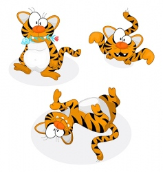 cartoon tigers vector image vector image