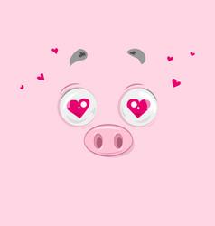 in love piggy vector image vector image
