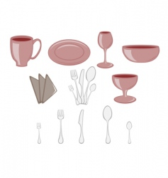 kitchenware icons vector image