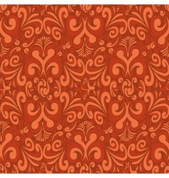 Seamless vintage red background vector image