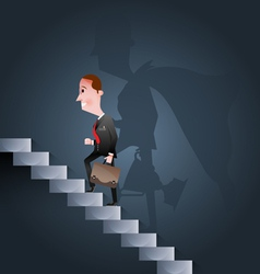Stairway to success Business concept vector image vector image