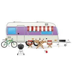 trailer caravan 04 vector image vector image