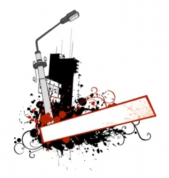 urban grungy element vector image vector image
