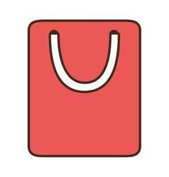 cartoon bag gift paper shop online symbol vector image