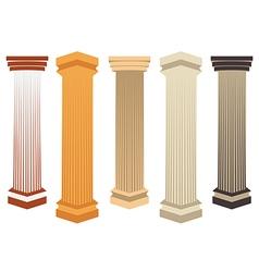 Column Doric Roman style vector image vector image