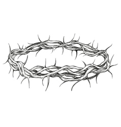 crown of thorns religious symbol hand drawn vector image