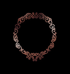 decorative rose gold frame with copyspace over vector image