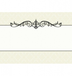 floral pattern and ornament frame vector image