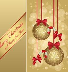 gold christmas greeting card vector image