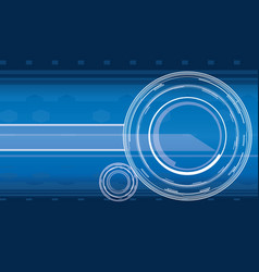 hi-tech background in blue color vector image vector image