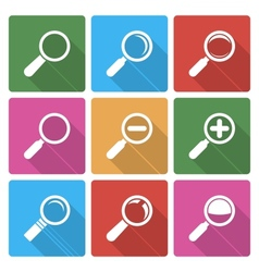 Magnifier Glass Icons wiht shadow vector image vector image