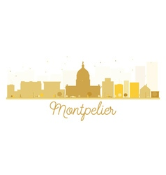 Montpelier City skyline golden silhouette vector image vector image