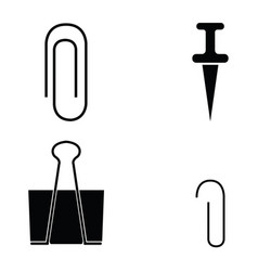 paper clip icons set vector image
