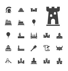 22 history icons vector
